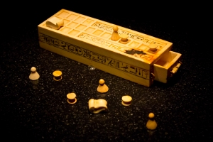 Game box for playing Senet